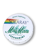 Solaray: Peppermint Mini Mints 0.5 Tab Peppermint