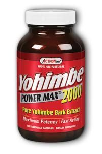 Action Labs: Yohimbe Power Max 2000 (Pure Yohimbe Bark Extract) 100ct