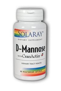Solaray: D-Mannose with CranActin 60 caps - 1000mg