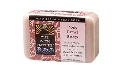 ONE WITH NATURE: Rose Petal Bar Soap 7 oz