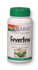 Solaray: Feverfew Leaves 100ct 380mg