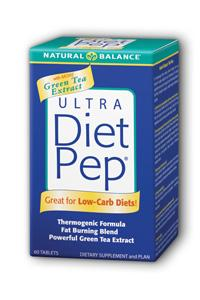 Natural Balance: Ultra Diet Pep With Green Tea Extract 60ct