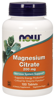 NOW: MAGNESIUM CITRATE 200mg  100 TABS 1