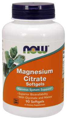 NOW: Magnesium Citrate 90 Gels