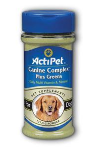 Canine Complex Plus Greens 121.5 Grams from Actipet