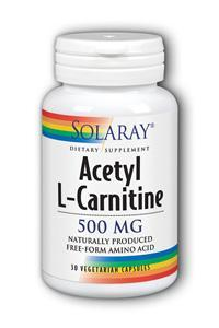 Solaray: Acetyl L Carnitine 500mg 30ct