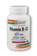 Solaray: Vitamin B12 Gumlet 30ct 1000mcg