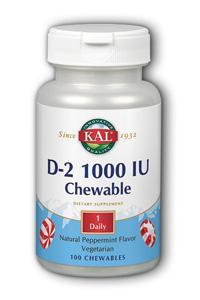Kal: D 1000iu 100 Chewable