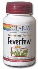 Solaray: Feverfew Leaves 60ct 350mg