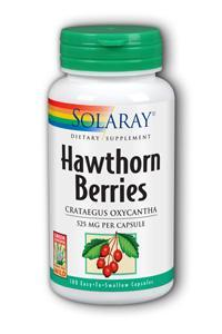 Solaray: Hawthorn Berries 100ct 525mg