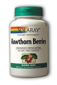 Solaray: Hawthorn Berries 180ct 525mg