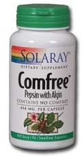 Solaray: Comfree pepsin with algin 100ct 454mg