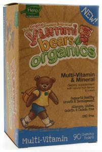 YUMMI BEARS (HERO NUTRITIONAL PRODUCTS): Organic Yummi Bears Multi-Vitamin 90 ct