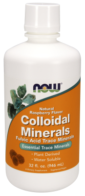 NOW: COLLOIDAL MINERALS RASBERRY  32 OZ 32 OZ