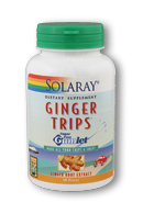 Solaray: Ginger Trips Gumlet 30ct 135mg