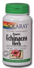 Solaray: Organic Echinacea purpurea Herb 100ct 380mg
