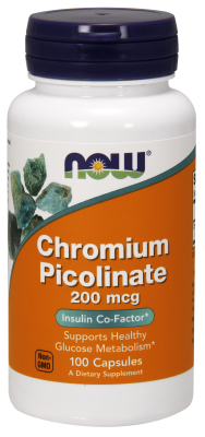 NOW: CHROMIUM PICOLINATE 200mcg  100 CAPS 100 CAPS