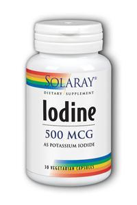 Solaray: Potassium Iodide 500 mcg 30ct