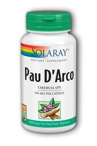 Solaray: Pau D'Arco Inner Bark 100ct 510mg
