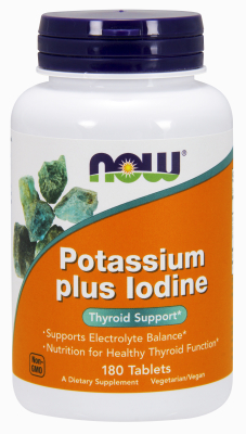 NOW: POTASSIUM PLUS IODINE   180 TABS 1
