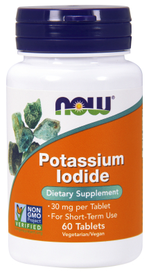 Potassium Iodide 30mg 60 Tbs from NOW