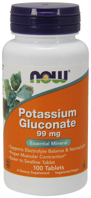 NOW: POTASSIUM GLUCONATE 99mg  100 TABS 1