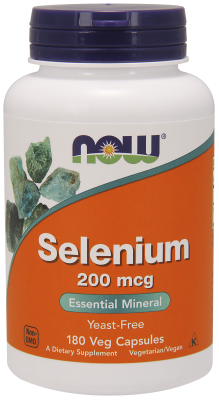 NOW: SELENIUM 200mcg  180 CAPS 1