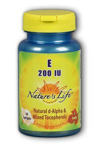 Natures Life: Vitamin E, 200 IU 50ct