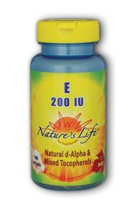 Natures Life: Vitamin E, 200 IU 100ct