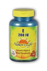 Natures life: Vitamin e, 200 iu 250ct