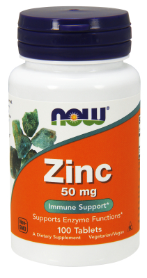NOW: ZINC GLUCONATE 50mg 100 TABS