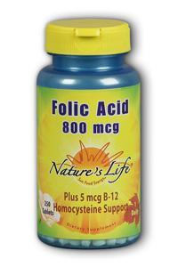 Natures Life: Folic Acid 800 mcg 250ct