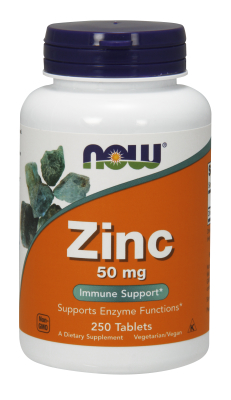 NOW: ZINC GLUCONATE 50mg 250 TABS