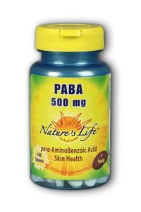 Natures Life: PABA, 500 mg 100ct