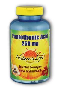 Natures Life: Pantothenic Acid, 250 mg 250ct