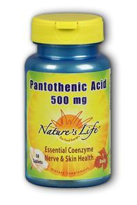 Natures Life: Pantothenic Acid, 500 mg 50ct