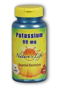 Natures Life: Potassium, 99 mg 100ct