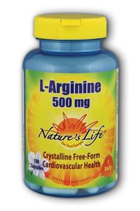 Natures life: L-arginine, 500 mg 100ct