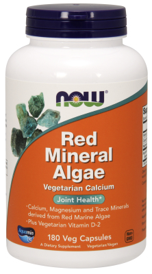 NOW: Red Mineral Algae 180 Vcaps