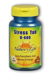 Natures Life: Stress Tab B 600 50ct