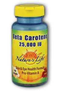 Natures Life: Beta Carotene 25,000 IU 250ct