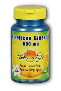 Natures Life: American Ginseng  500 mg 50ct