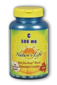 Natures life: Vitamin c, 500 mg caps 100ct