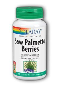 Solaray: Saw palmetto berries 100ct 580mg