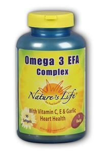 Natures Life: Omega III EFAs-EPA  DHA 90ct
