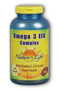 Natures Life: Omega III EFAs-EPA  DHA 180ct