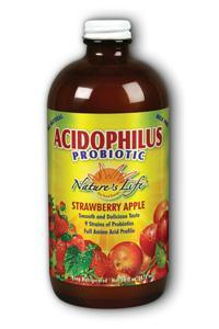 Natures Life: Straw-Apple Acidophilus Liquid 16oz