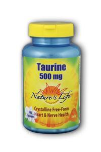 Natures Life: Taurine 500mg 100ct Caps