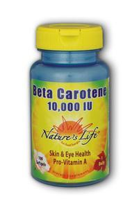 Natures Life: Beta Carotene 10,000 IU 100 tablets