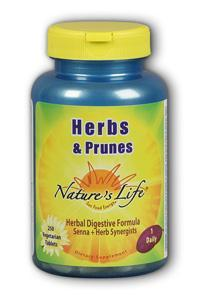 Natures Life: Herbs & Prunes Laxative 250ct